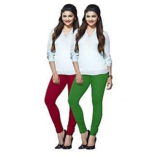 Lux Lyra Multicolored Pack of 2 Cotton Leggings LyraIC8992FS2PC