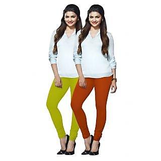 Lux Lyra Multicolored Pack of 2 Cotton Leggings LyraIC9091FS2PC