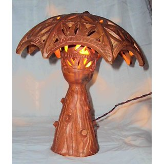 TERRACOTTA UMBRELLA TABLE LAMP