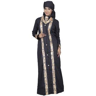 Hawai Golden Leon Fabric Embellished Burqa for Women