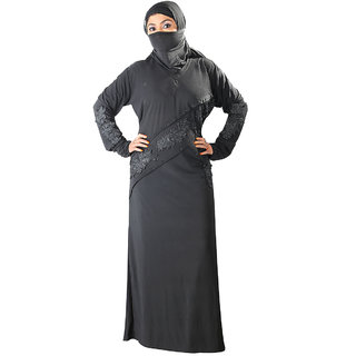 Hawai Traditional Black Burqa
