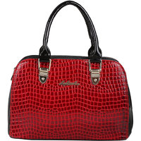My Mini Mee Synthetic Leather Handbag (Color-Red/Black)