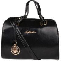 My Mini Mee Synthetic Leather Handbag (Color-Black)