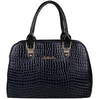 My Mini Mee Synthetic Leather Handbag (Color-Blue/Black