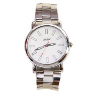 SKIN Silver/White Dial Analog Watch