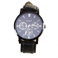 SKIN Black Round Dial Analog Watch