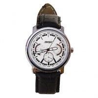 SKIN White/Silver Dial Analog Watch