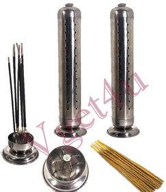 2 New Agarbati Metallic Tower Incense Stick Holder Stand