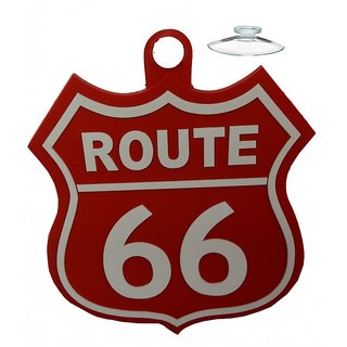 Car Waterproof soft PVC silicone rubber Bumper sticker (Route 66)