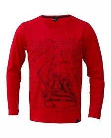 Rigo Red Voyage Ship TShirt full sleeves material cotton