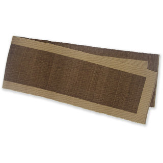 Dhrohar Ribbed Cotton Table Runner - Brown