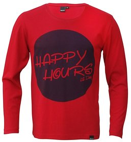 Rigo Red Happy Hours All Day TShirt full sleeves