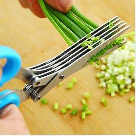 5 Blade Vegetable Stainless Steel Herbs Scissor