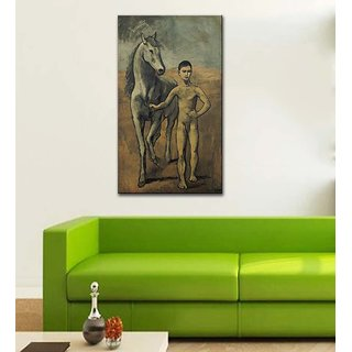 Tallenge Modern Masters Collection - Boy Leading A Horse By Pablo Picasso - Gallery Wrap Canvas Art Print