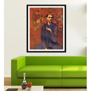 Tallenge Modern Masters Collection - Garon  La Pipe By Pablo Picasso - Framed Art Print