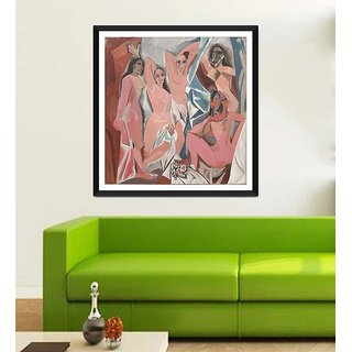 Tallenge Modern Masters Collection - Les Demoiselles dAvignon By Pablo Picasso - Framed Art Print