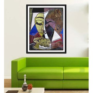 Tallenge Modern Masters Collection - Tete dune Femme Lisant By Pablo Picasso - Framed Art Print