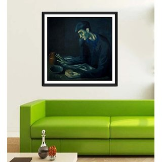 Tallenge Modern Masters Collection - The Blind Mans Meal By Pablo Picasso - Framed Art Print