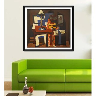 Tallenge Modern Masters Collection - Three musicians By Pablo Picasso - Framed Art Print