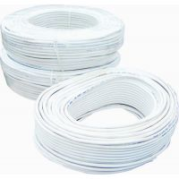 Kaivalya CCTV WIRE CABLE 3+1 CORE ALLOY-- 90 METER (100 YARDS) White