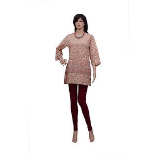 Pezzava: Block Print Kurti Fashion Designer Kurta Women's Wear TOP-A0076