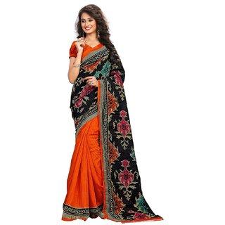 Womens Ethnic Partywear Bhagalpuri Art Silk Printed Saree Sari 1004