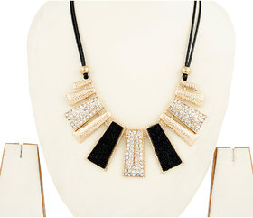 Acsentials Dazzling Black and Silver Necklace