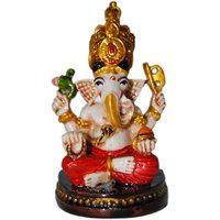 Madg Vastu Fangshui Religious Idol Of Ganesh Premium Statue, Best Choice For Car Decor Showpiece (H8 Cm X W4.5 Cm X D4 Cm)