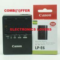 LP-E6 Battery LC-E6E Charger For Canon EOS 5D 6D 7D 60D 60Da Mark II III Camera