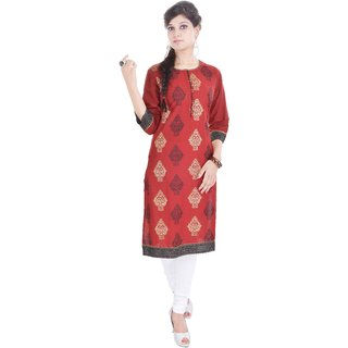 Factorywala A Beautiful Printed Cotton Kurti for Womens
