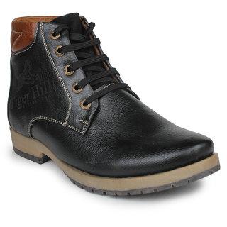 Pede Milan Men's Black Lace-Up Casual Shoes