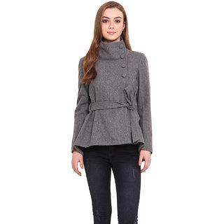 Saiesta Women Black Casual Jacket