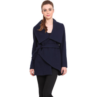 Saiesta Women Blue Casual Jacket