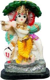 Handmade Ceramic Cow Krishna Murti