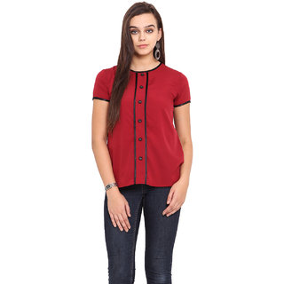 Pink Lemon Women Maroon Top