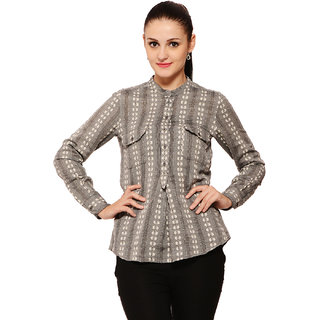 Global Colours Women Grey Shirt