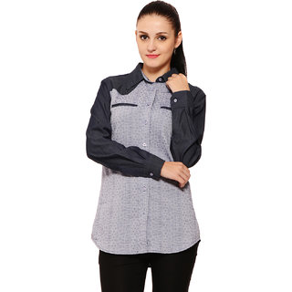 Global Colours Women Blue Shirt