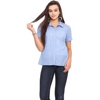 Pink Lemon Women Blue Shirt