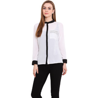 Blink Women White Georgette  Shirt