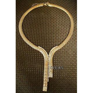 Elegant Gold Metalic Gold Shade Necklave