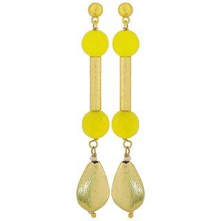 Maayra Cute Yellow Gold Designer College Drop Earrings