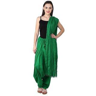 PISTAA'S PAK GREEN Full Cotton Patiala Salwar With Dupatta