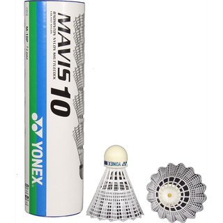 Yonex Mavis 10 Nylon Shuttle Cock   White  Pack of 1 Dozen