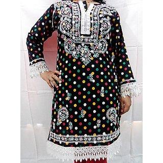 Cotton Chikan Kurti-Size 40