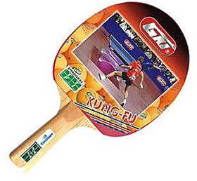 GKI Kung-Fu Table Tennis Bat in new computerised printed cover