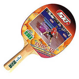 GKI Kung-Fu Table Tennis Bat in new computerised printed cover (Pack of 2)