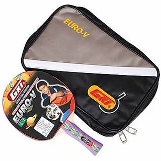 GKI Euro V Table Tennis Bat with Soft Tatron Cover