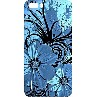 Casotec Cute Floral Blue Design Hard Back Case Cover For Huawei Honor 6 Plus gz8030-12188