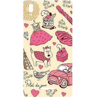 Casotec Paris Pattern Design Hard Back Case Cover For Sony Xperia T3 gz8038-12114