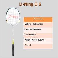 Li-Ning Q 6 Strung Badminton Racquet (Assorted)